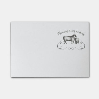 Sheep Farm Funny French Expression Vintage Style Post-It Notes