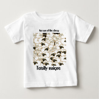 sheep flock black and white baby T-Shirt