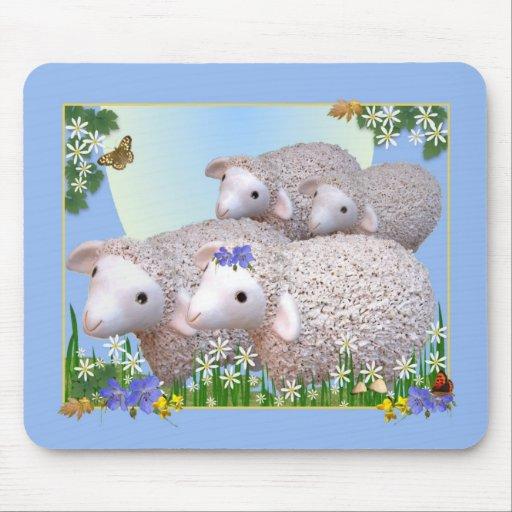 SHEEP FLOCK Mousemat Mouse Mat