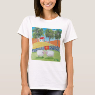 SHEEP FOLK ART T-Shirt