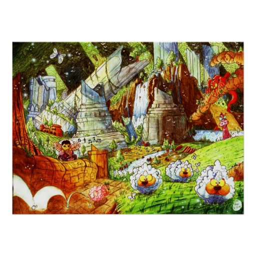 Sheep Forest Posters