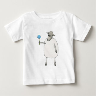 Sheep Giving a Flower. Baby T-Shirt