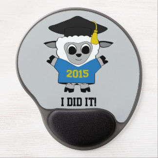 Sheep Grad Wearing Blue & Gold 2015 Tee Gel Mouse Pad
