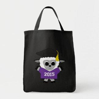 Sheep Grad Wearing Purple & White 2015 Tee Tote Bag