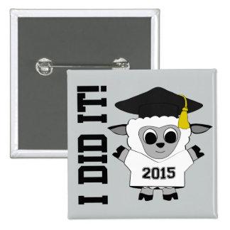 Sheep Grad Wearing White & Black 2015 Tee 15 Cm Square Badge