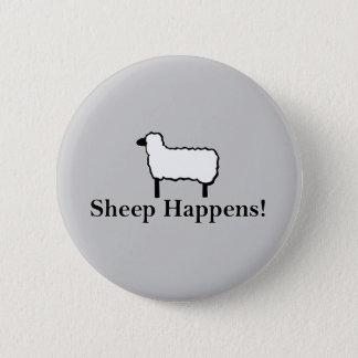 Sheep Happens! 6 Cm Round Badge