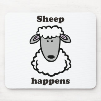 Sheep happens mouse mat