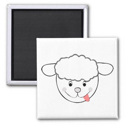 Sheep head cartoon fridge magnets