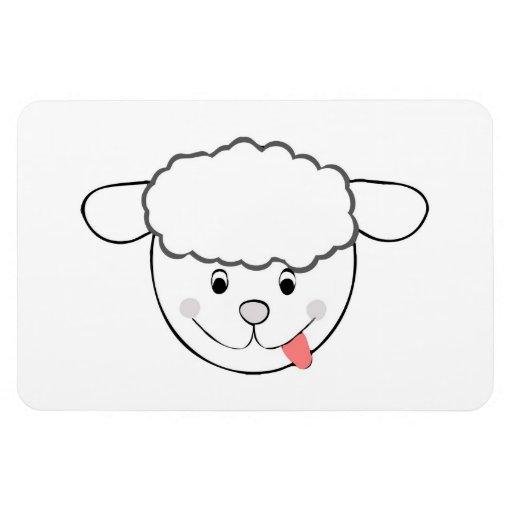 Sheep head cartoon vinyl magnet