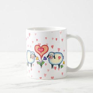 SHEEP & HEARTS by SHARON SHARPE Basic White Mug