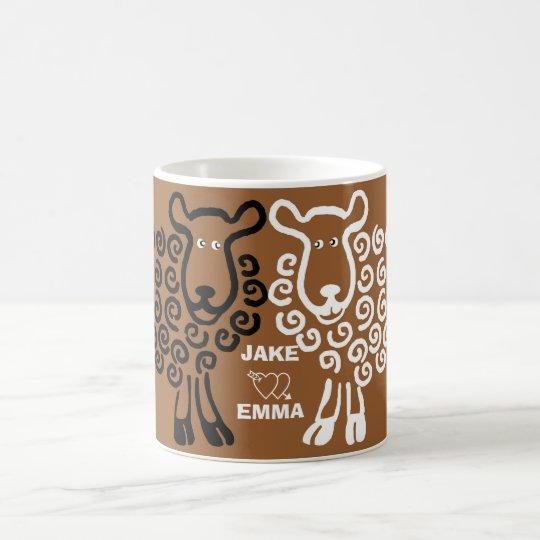 Sheep in love - Jake loves Emma Coffee Mug