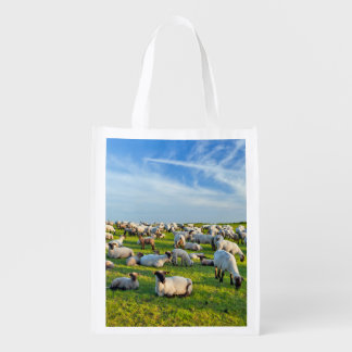 Sheep in Pasture Reusable Grocery Bag