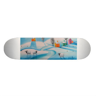 SHEEP IN THE SNOW CUSTOM SKATEBOARD