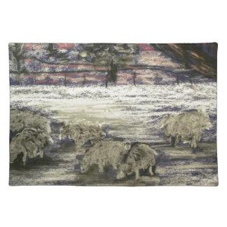 Sheep-in-winter-Seasons-Greetings Placemat
