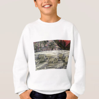 Sheep-in-winter-Seasons-Greetings Sweatshirt