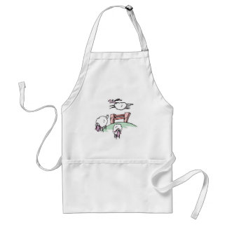 sheep jumping fence standard apron