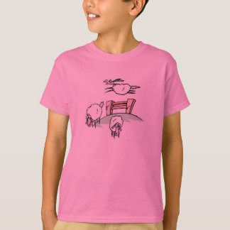 sheep jumping fence T-Shirt