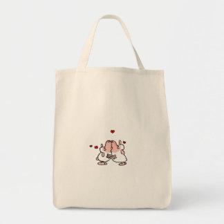 Sheep kiss tote bag