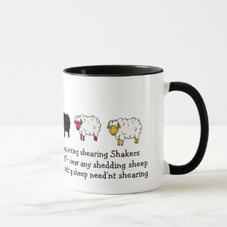 Sheep, Lamb Shearing tounge-twister poem cartoon Mug