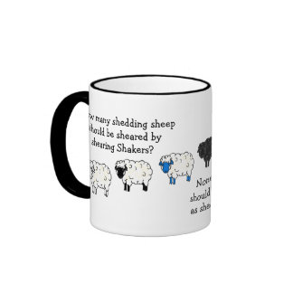 Sheep, Lamb Shearing tounge-twister poem cartoon Ringer Mug