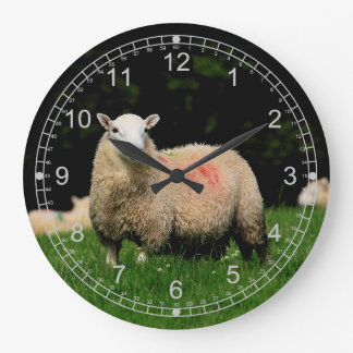 Sheep Large Clock