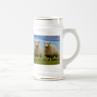 Sheep lovers tankard, stein beer steins