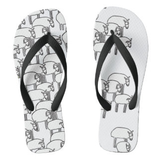Sheep Mass Flip-Flops Flip Flops