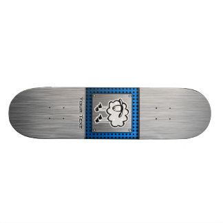 Sheep metal-look skateboard deck