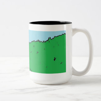 Sheep Mob Two-Tone Mug