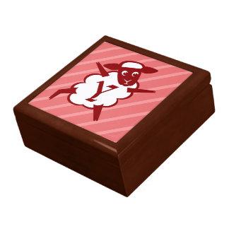 Sheep Monogram Letter Y Large Square Gift Box