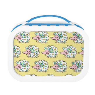 Sheep of star handle (white) lunch box