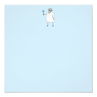 Sheep on Blue Background. Card