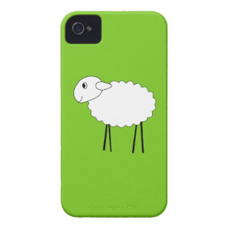 Sheep on Green Background. iPhone 4 Case-Mate Case