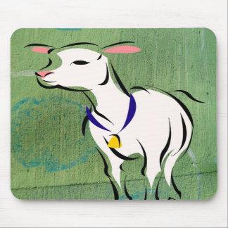 Sheep on Mixed Media Background Mousepad