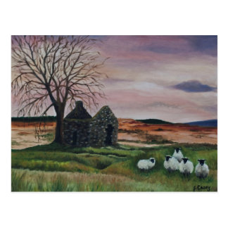 Sheep on Parkmore, County Antrim painting - Card