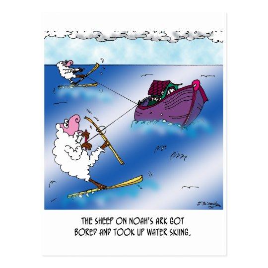 Sheep on the Ark Water Ski Postcard
