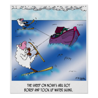 Sheep on the Ark Water Ski Poster