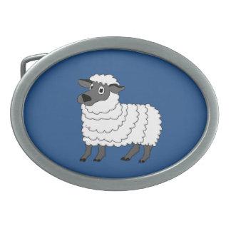Sheep Oval Belt Buckle