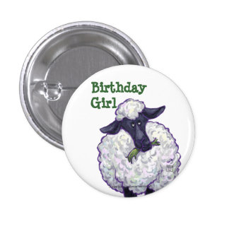 Sheep Party Centre 3 Cm Round Badge