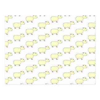 Sheep Pattern. Postcard