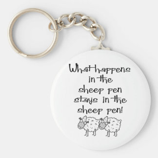 Sheep Pen Basic Round Button Key Ring