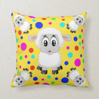 Sheep polka dot colorful cute animal farm cushion