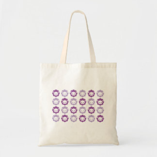 sheep purple tote bag