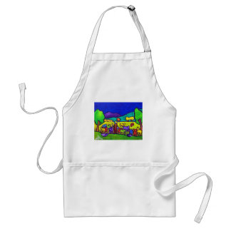 Sheep Roundup by Piliero Standard Apron