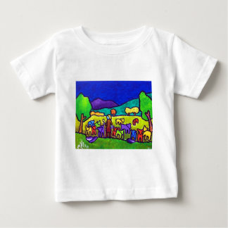 Sheep Roundup by Piliero Baby T-Shirt