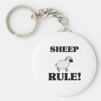 SHEEP Rule! Basic Round Button Key Ring