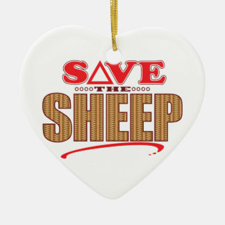 Sheep Save Christmas Ornament