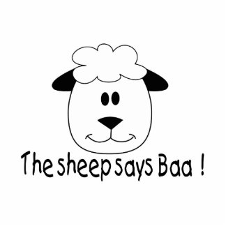 Sheep Says Baa Cut Out