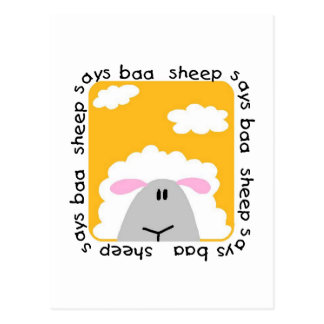 Sheep Says Baa T-shirts and Gifts Postcard