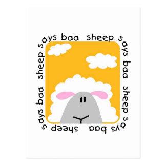 Sheep Says Baa T-shirts and Gifts Postcard